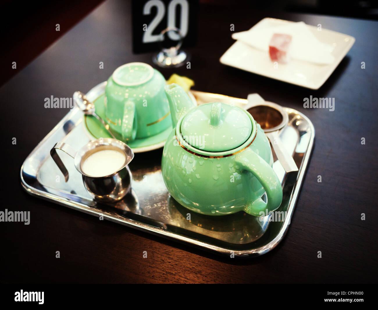 Plateau de thé de l'après-midi Photo Stock