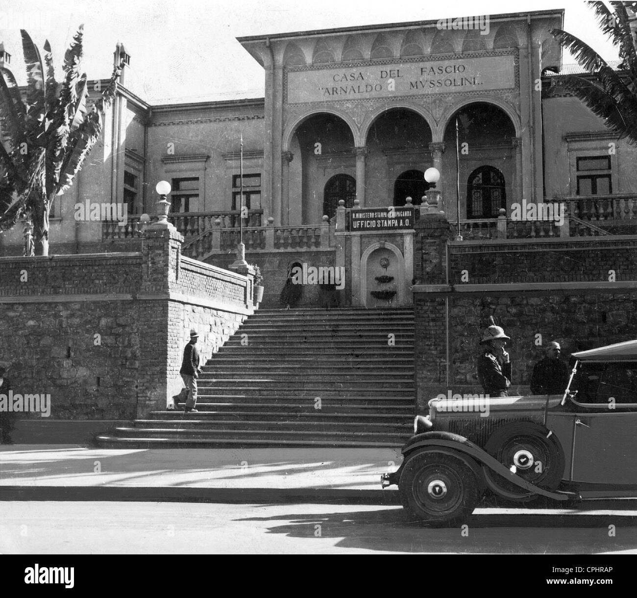 """""""Casa del Fascio"""" en Ethiopie dans les années 30 Photo Stock"""