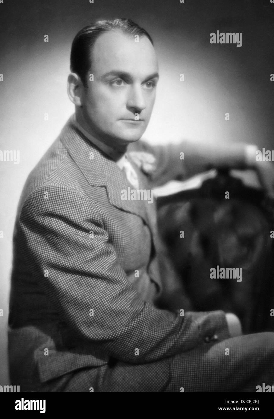 Willi Forst dans 'Bel Ami', 1939 Photo Stock