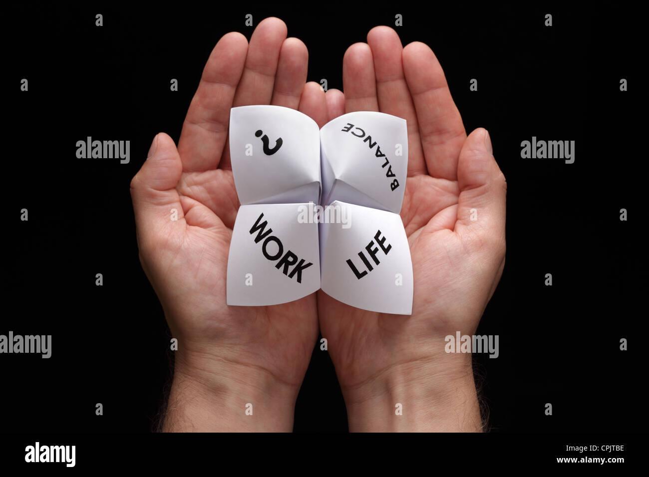 Choix entre travail et vie personnelle Banque D'Images