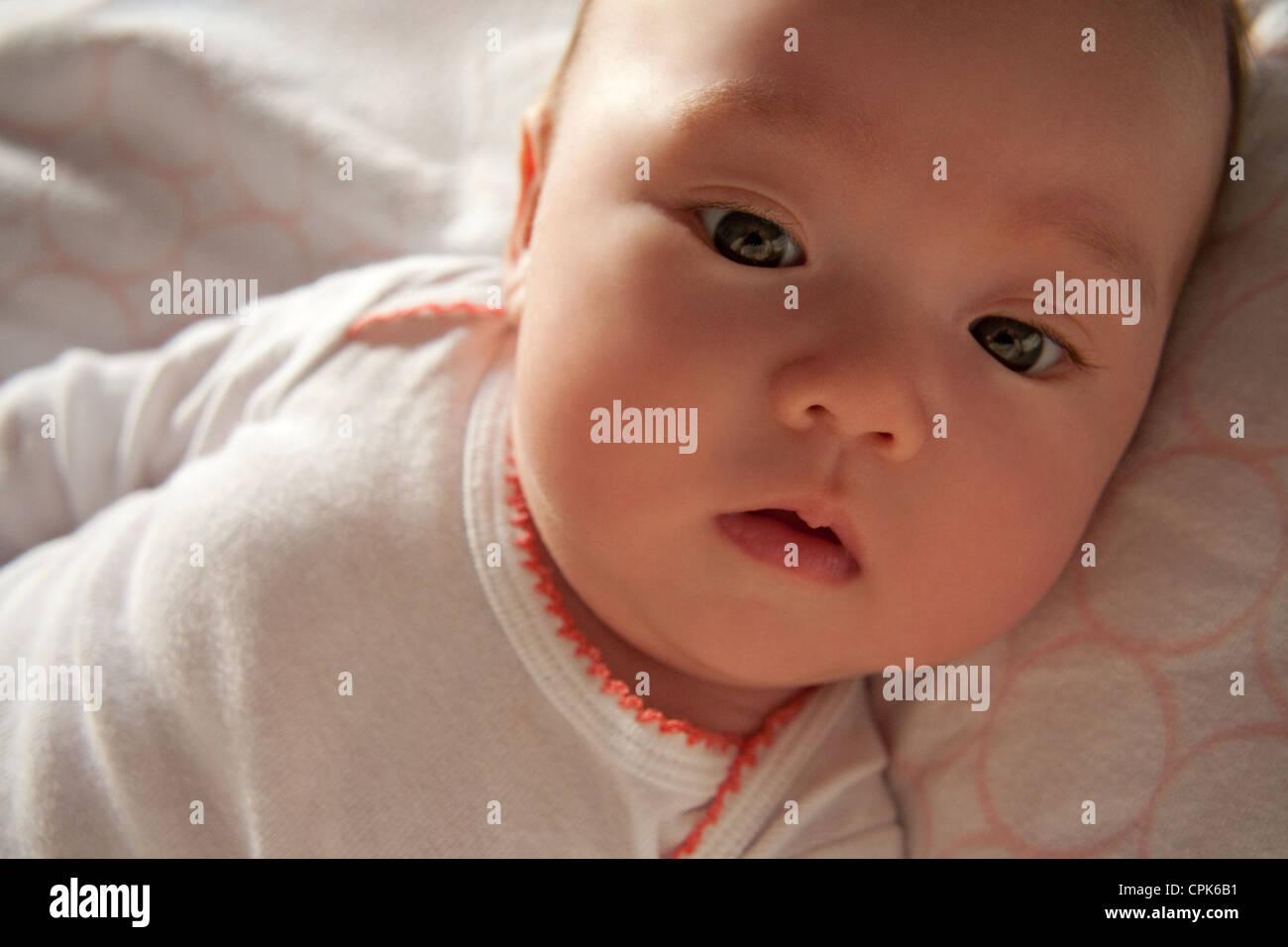 Deux mois baby girl Photo Stock
