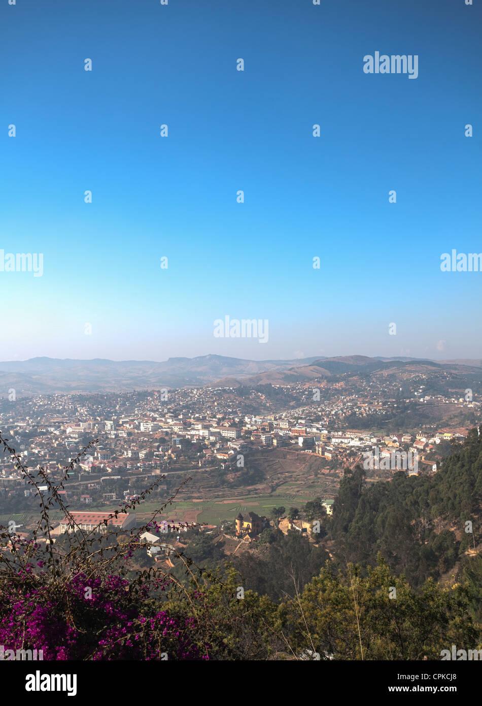 La ville d'Ambalavao, hauts plateaux, Madagascar Photo Stock