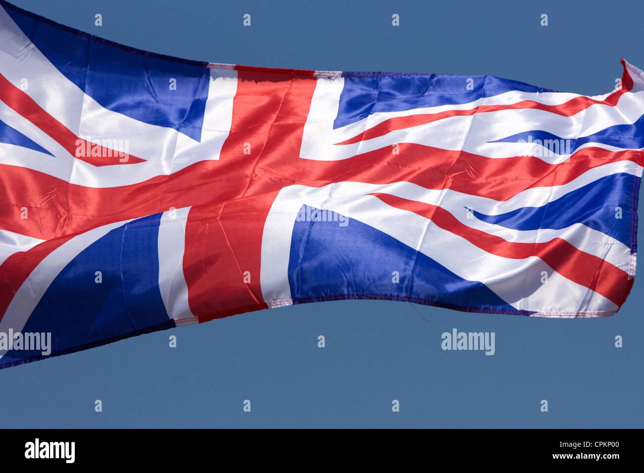 L'Union européenne pavillon du Royaume-Uni que l'on appelle parfois l'Union jack Photo Stock