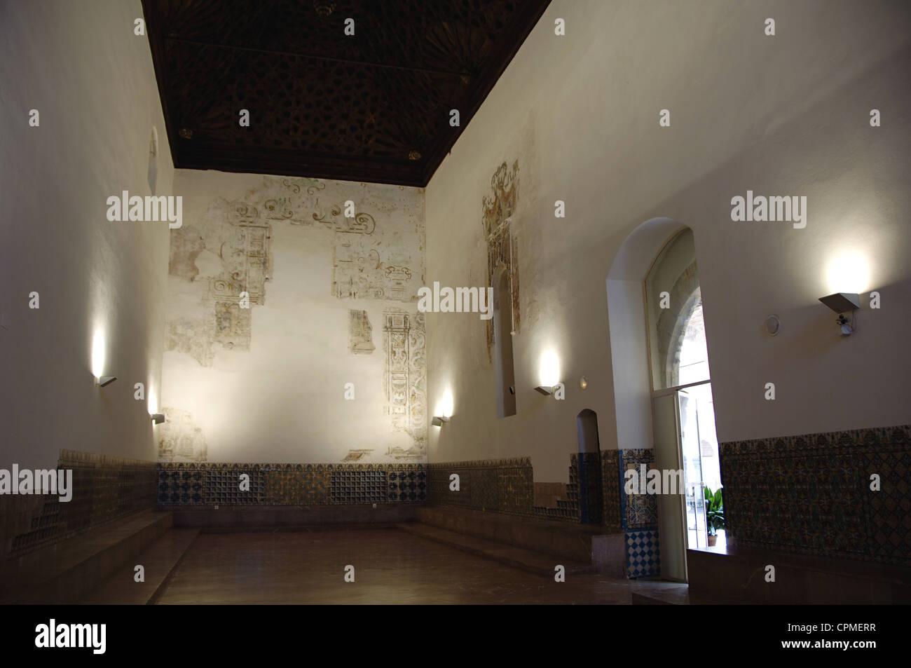 L'Espagne. L'Andalousie. Séville. Île de la Chartreuse. Monastère Notre Dame de la grotte. Le réfectoire. Banque D'Images