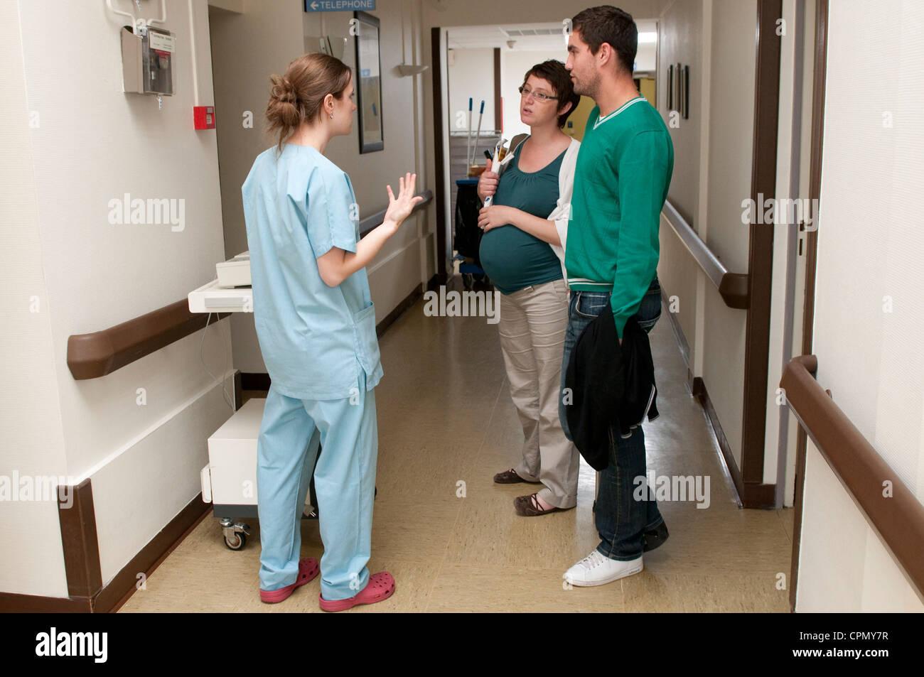 Venant de la maternité Photo Stock