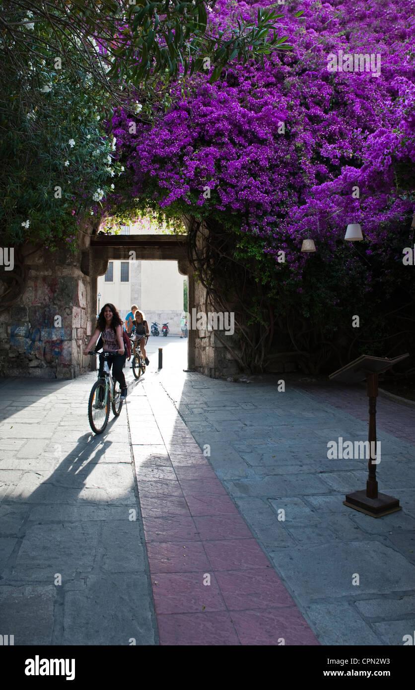 L'Europe la Grèce, Îles du Dodécanèse, Kos, la porte principale de l'enceinte médiévale Photo Stock