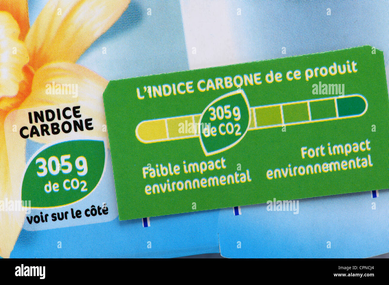 L'empreinte carbone de l'alimentation Photo Stock