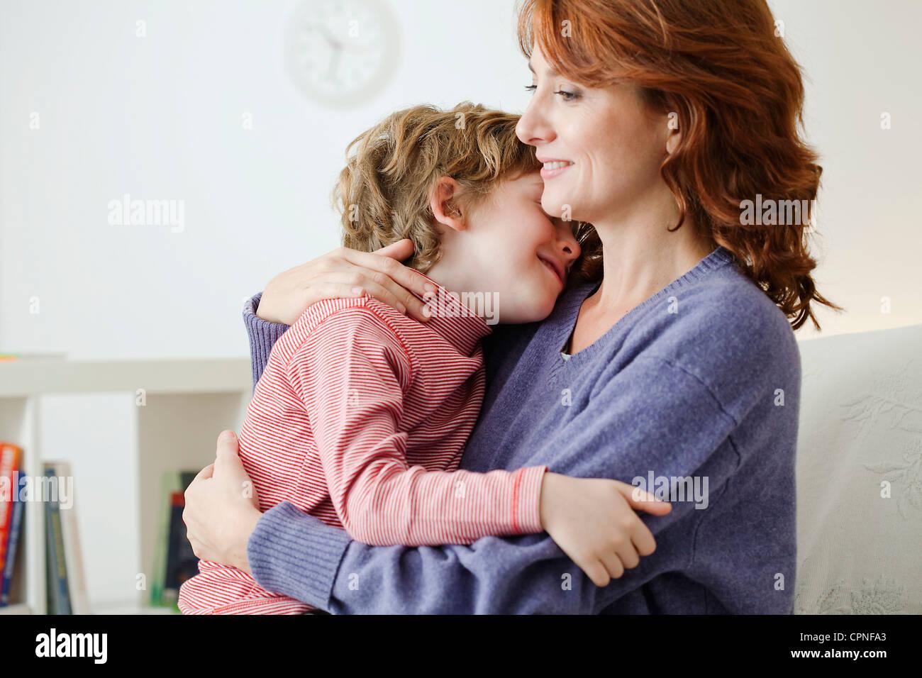 MÈRE & ENFANT Photo Stock