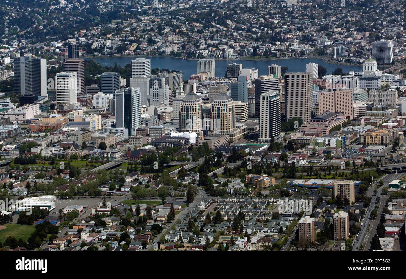 Photographie aérienne Oakland, Californie Photo Stock