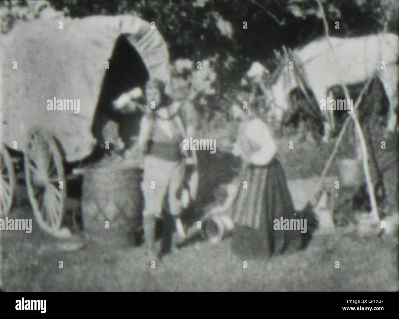 Photo du film de D. W. Griffith Les Aventures de Dollie (1908). Photo Stock