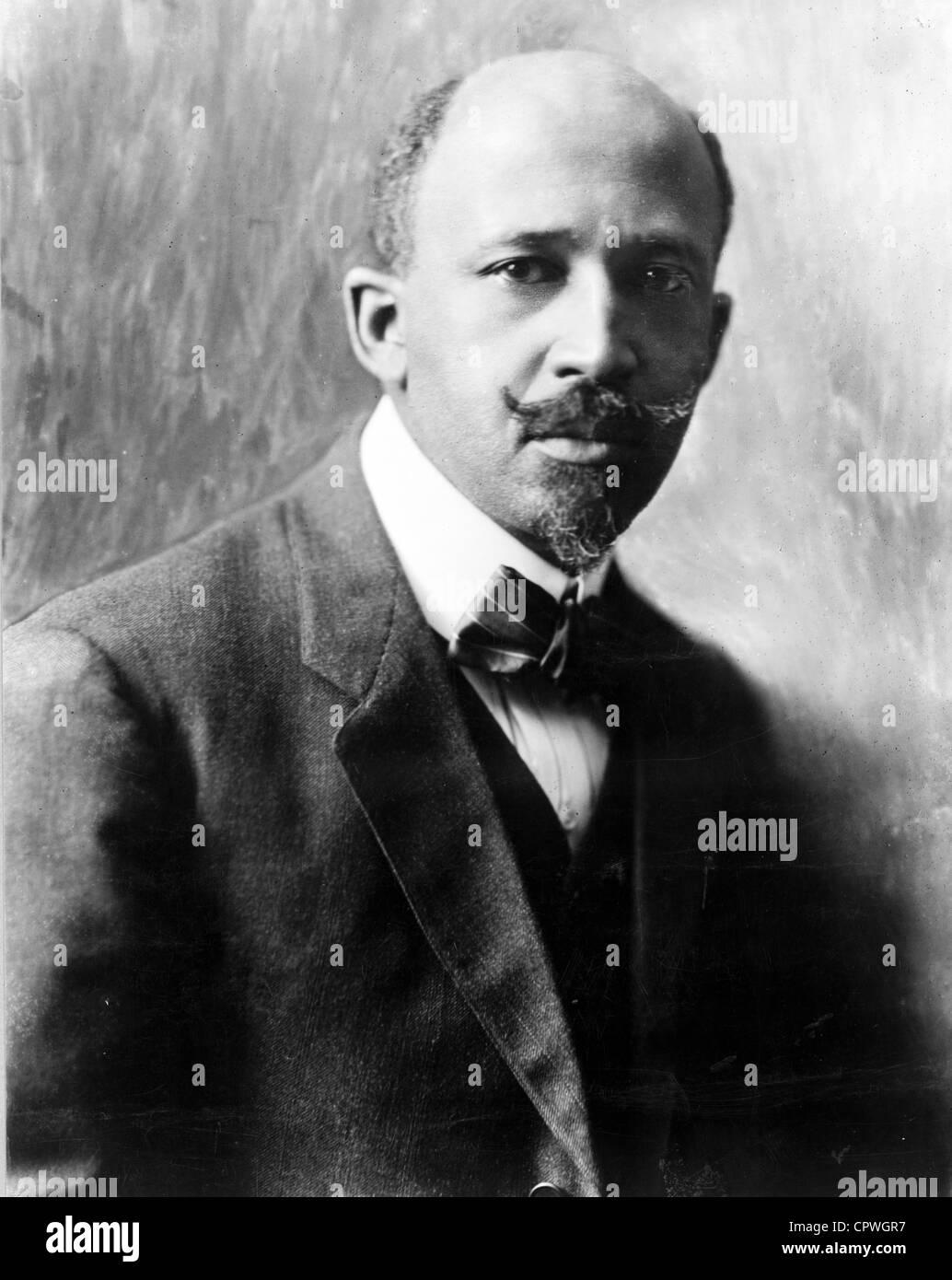 """William Edward Burghardt 'W. E. B. Du Bois"""", le sociologue américain, historien, activiste des droits Photo Stock"""