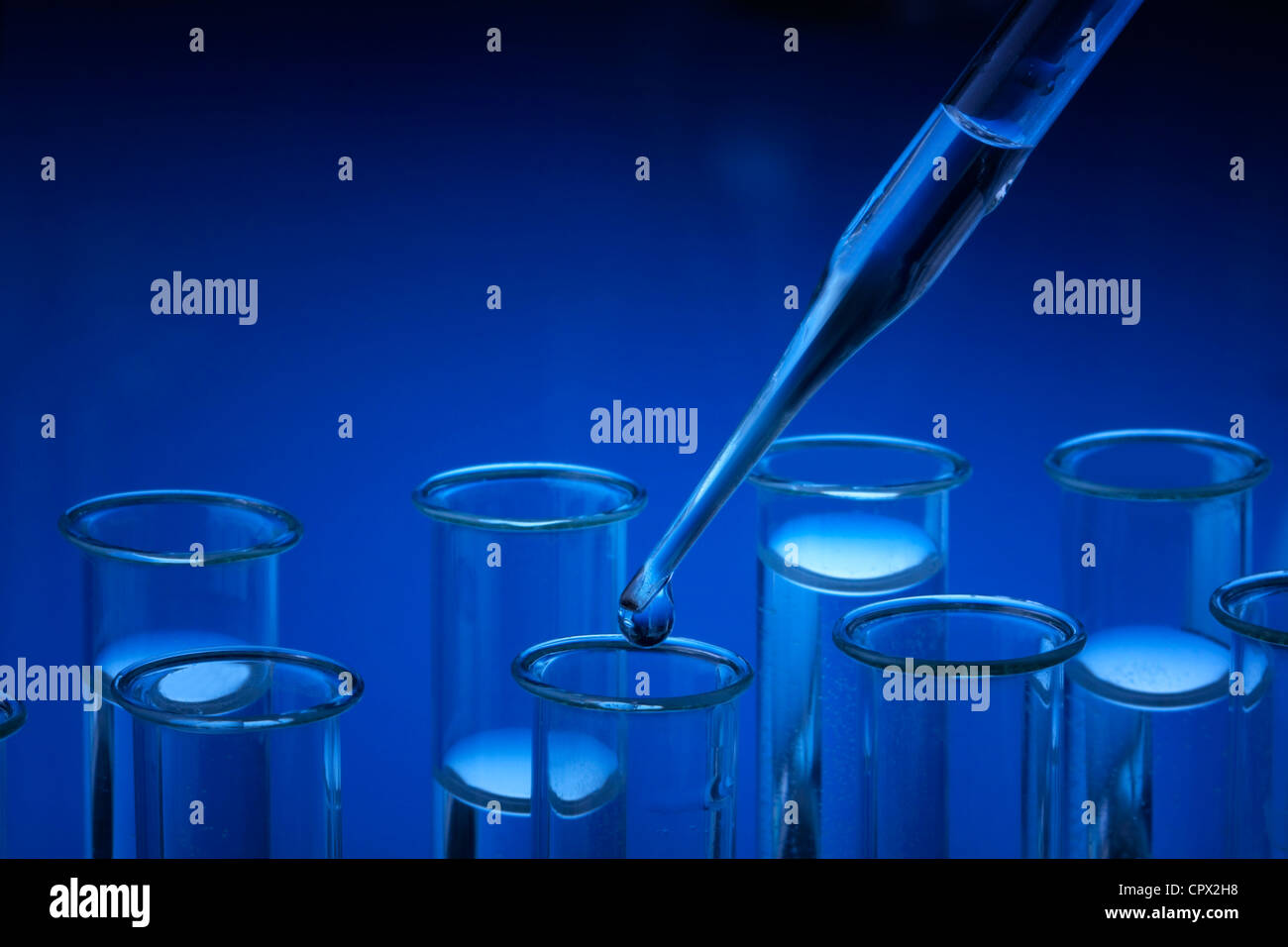 Verrerie de laboratoire Photo Stock