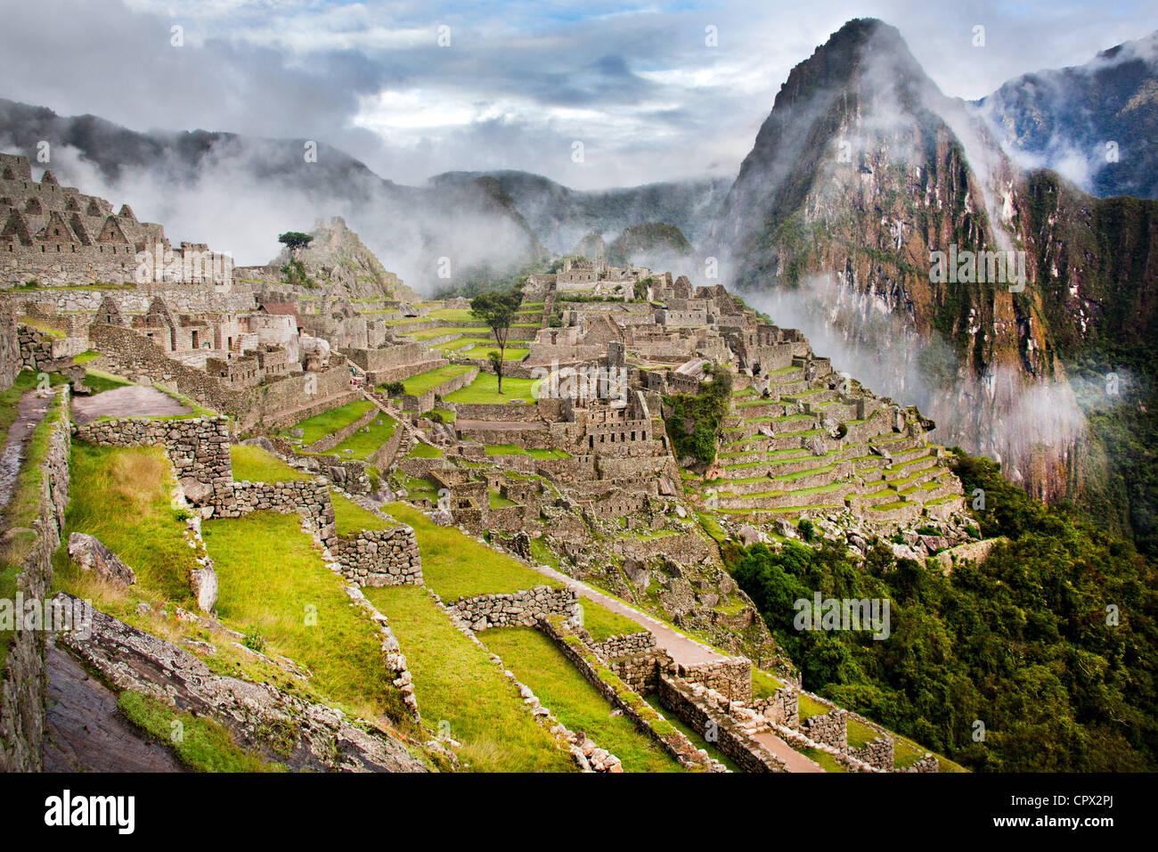 Le Machu Picchu, le Pérou, Amérique du Sud Photo Stock