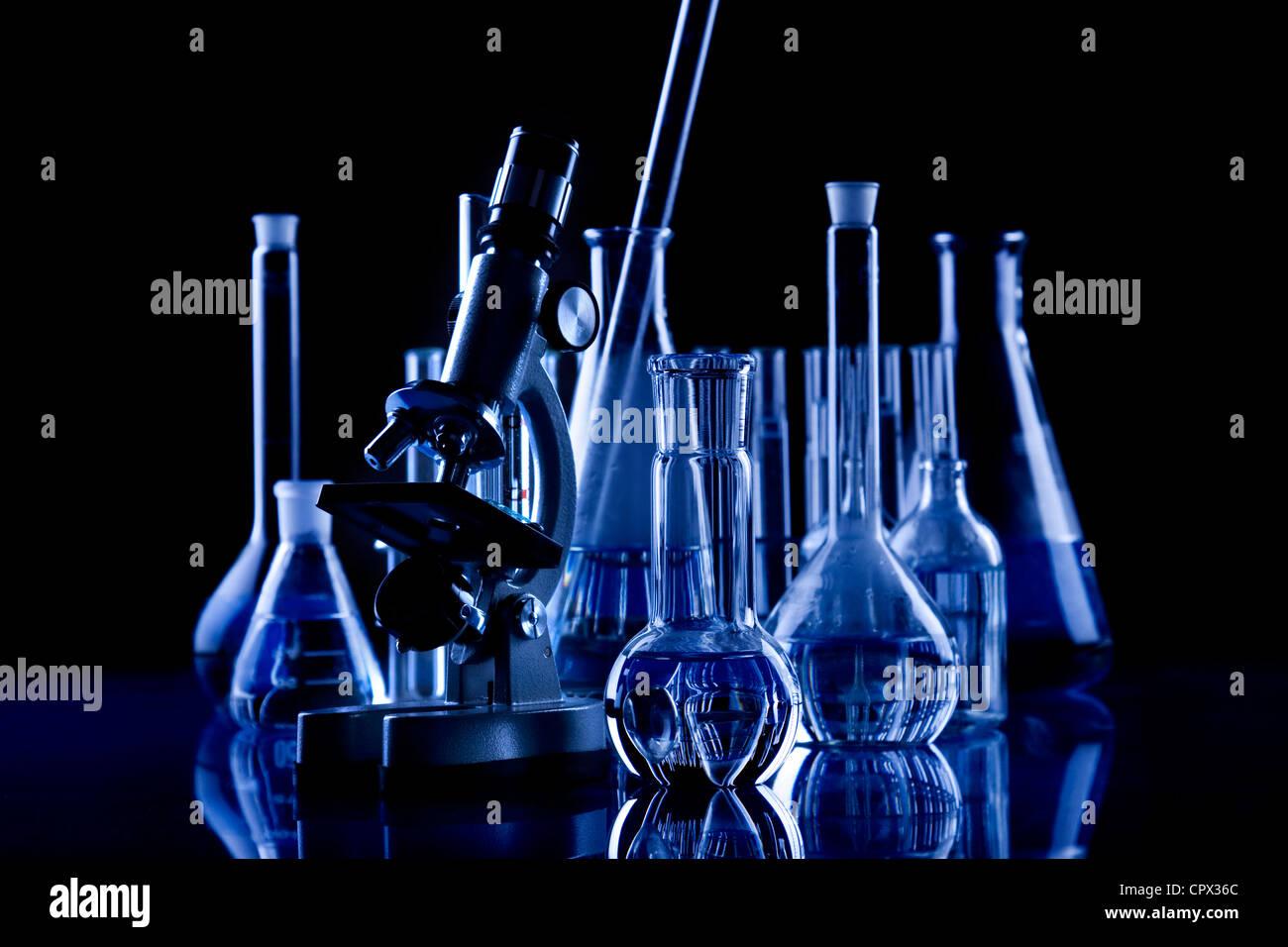 Verrerie de laboratoire Photo Stock