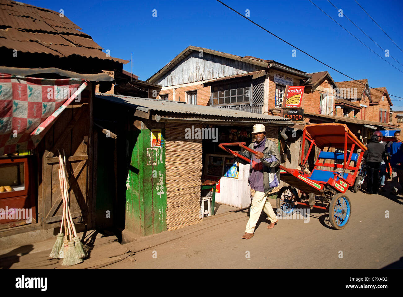 Madagascar, hauts plateaux du centre, ancienne province d'Antananarivo, Région Vakinakaratra, Antsirabe, Photo Stock