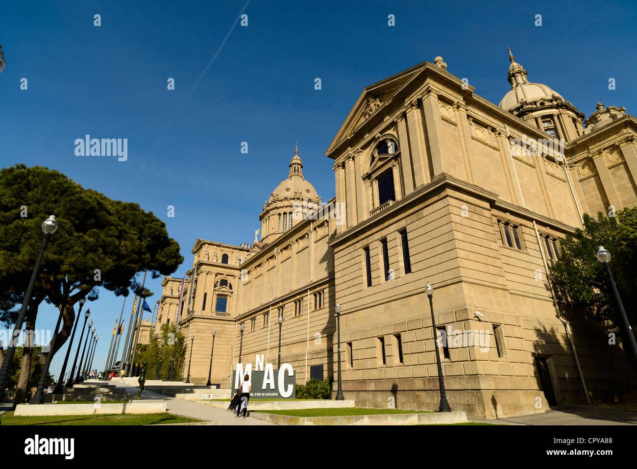 Museu Nacional d'Art de Catalunya, le Palau Nacional, Barcelone, Catalogne, Espagne Photo Stock