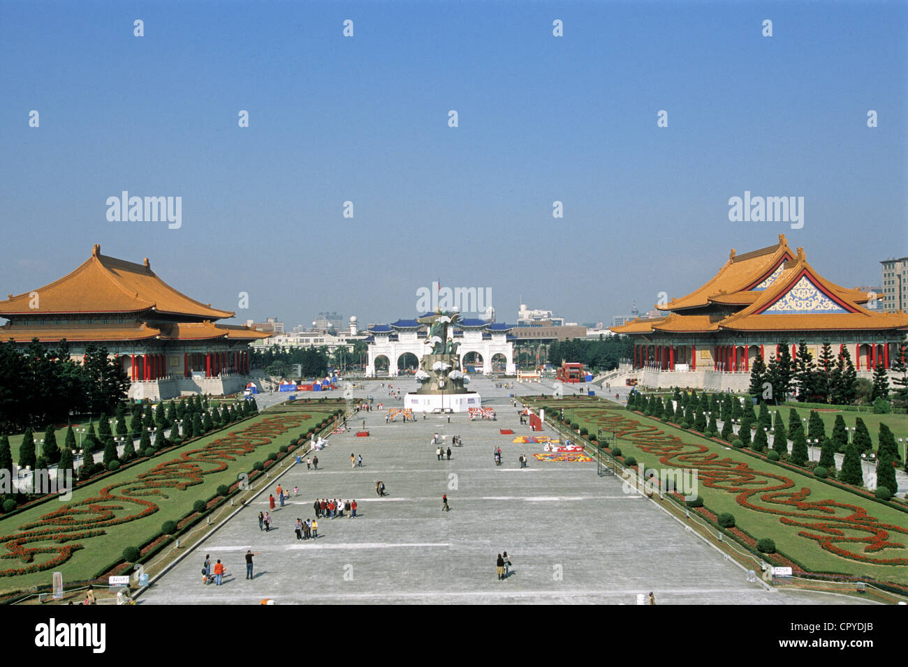 Taiwan, Taipei, Chiang Kai Shek Memorial, inauguré en 1980, a également appelé l'Hôtel de Photo Stock