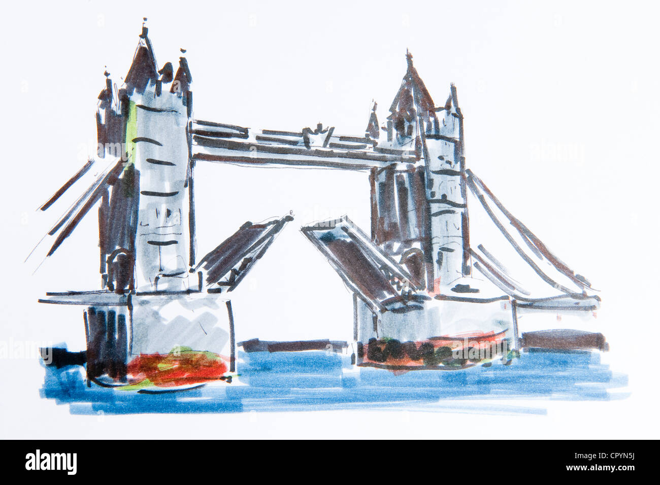 Tower Bridge Pont Sur La Tamise Londres Angleterre