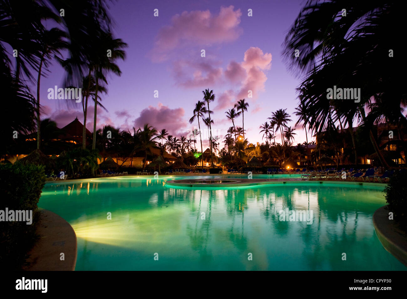 République dominicaine, Province de La Altagracia, Punta Cana, Playa Bavaro, Arena Blanca Hotel Banque D'Images