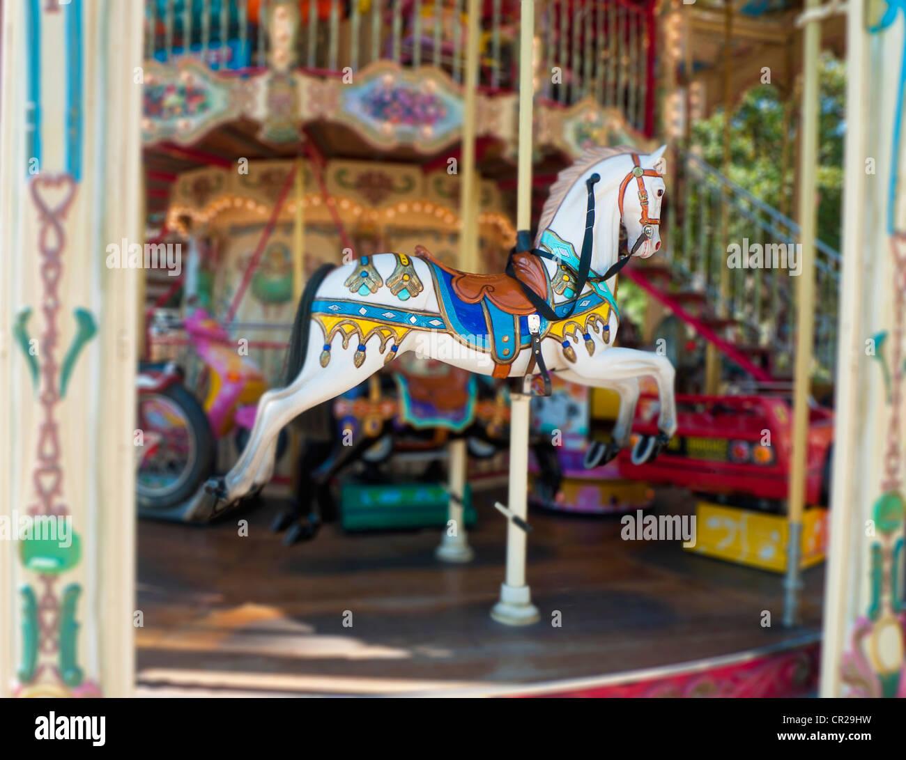 Carousel horse ride Photo Stock