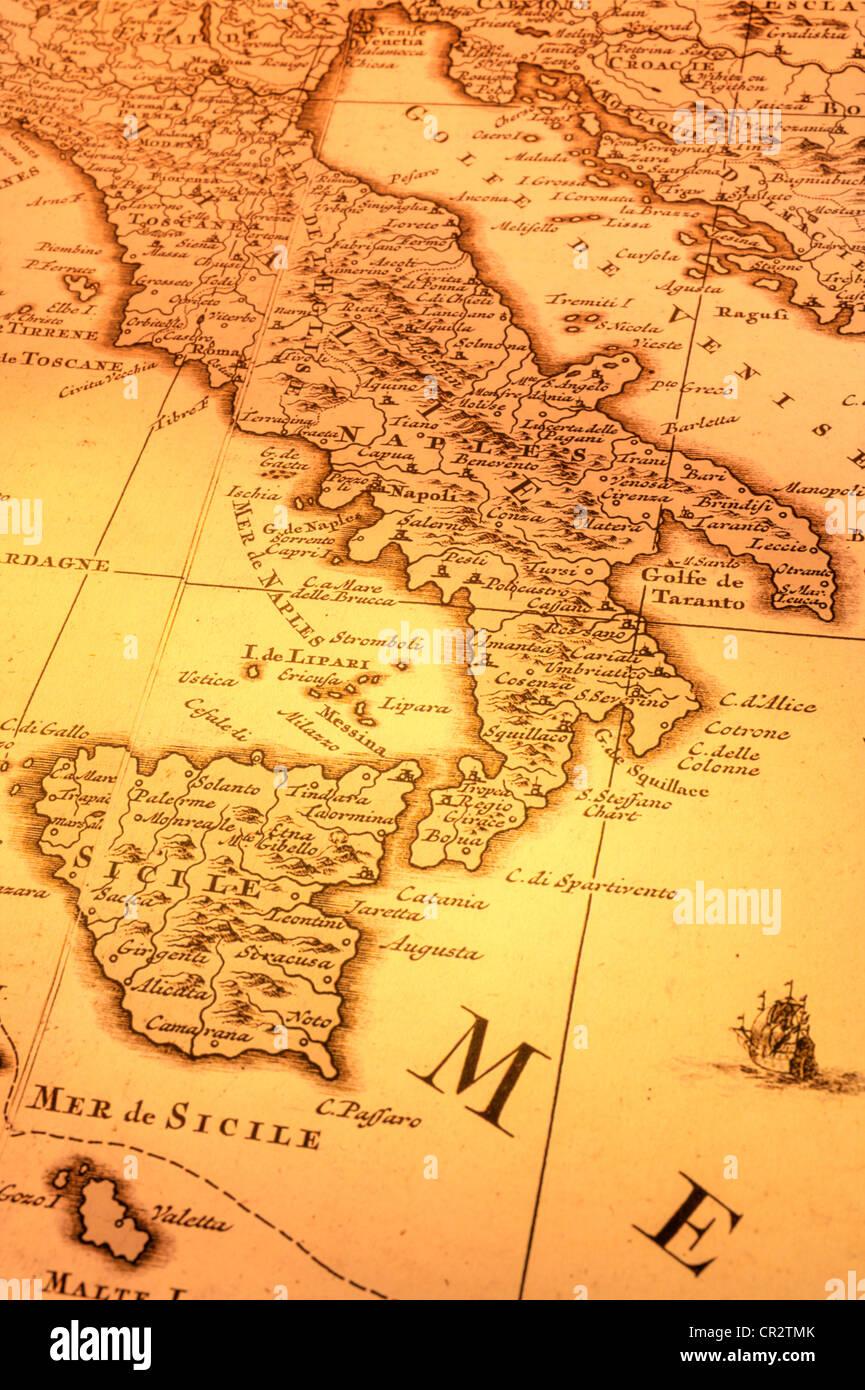 Carte Italie Balkans.Carte Ancienne De L Italie Et Les Balkans La Carte Est De