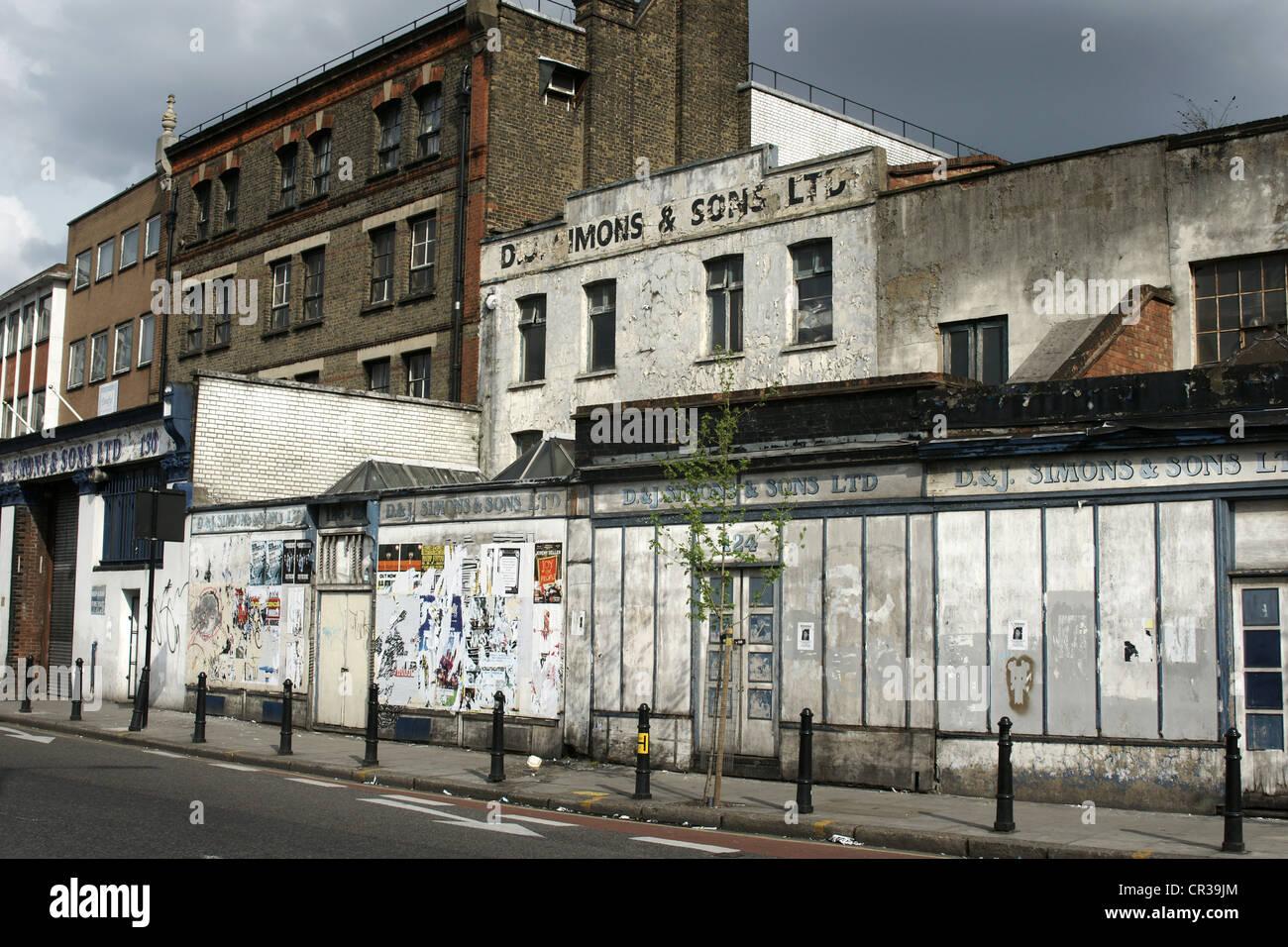 Maisons et propriétés délabrées et Hackney, Londres Photo Stock