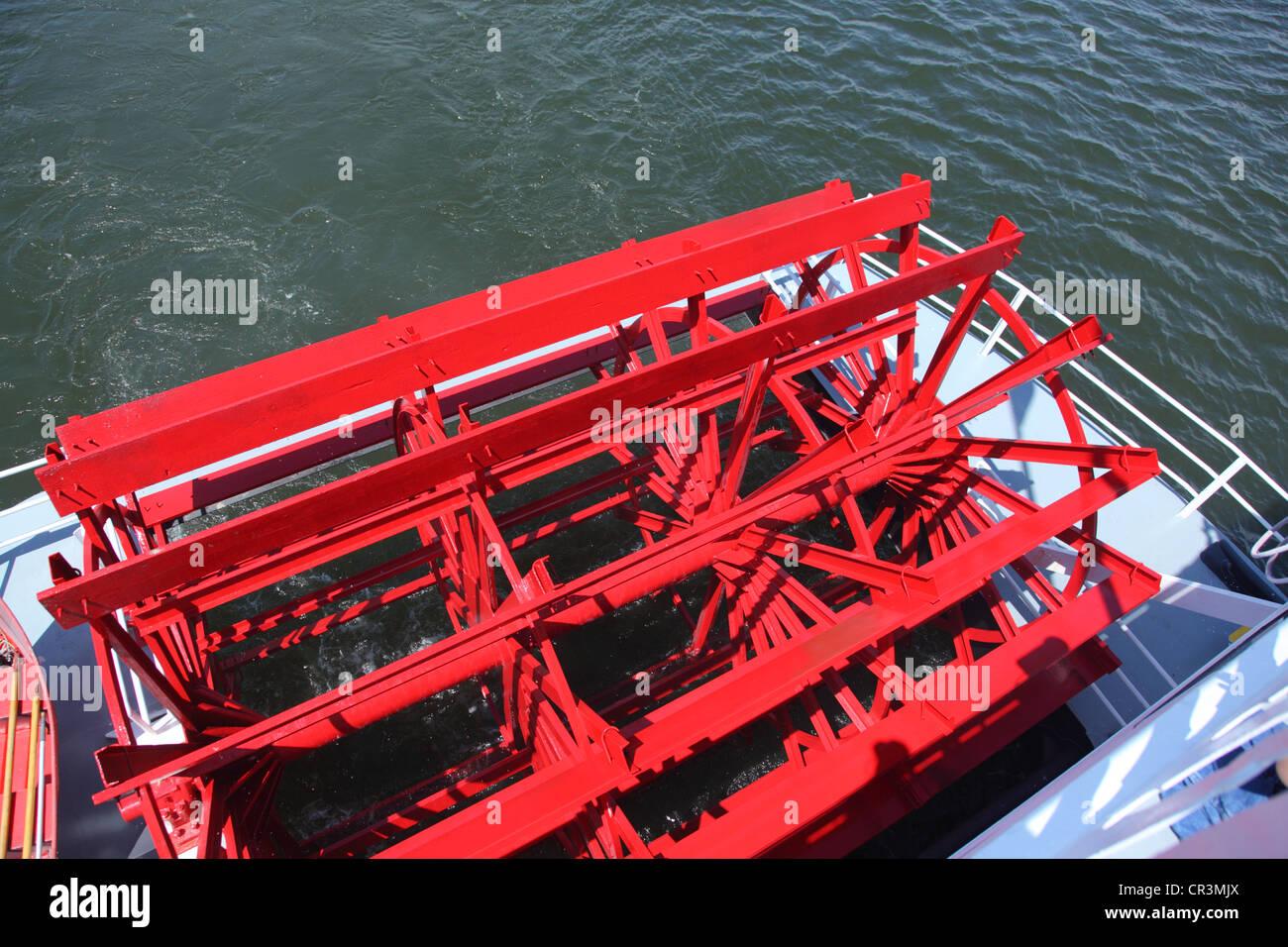 Bateau à roue radiale détail Photo Stock