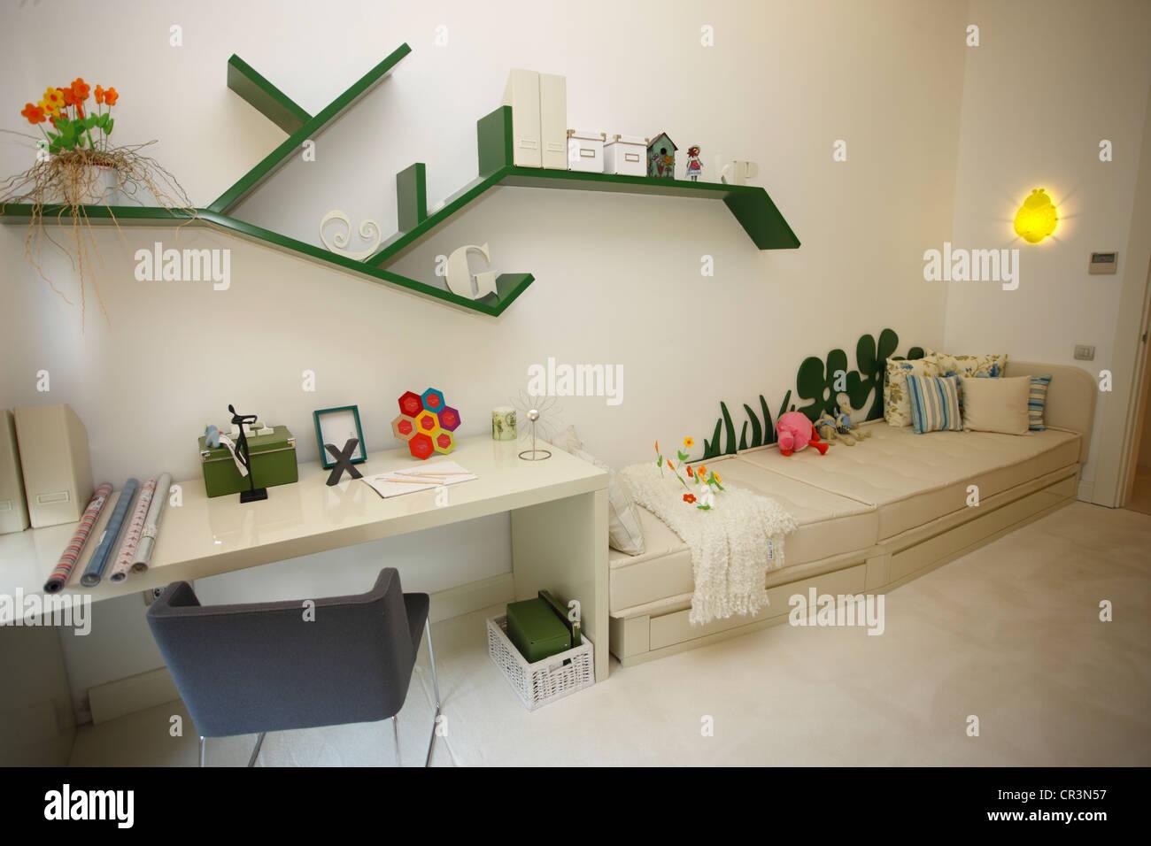 La Turquie, Istanbul, appartement modèle d'un futur complexe immobilier de la rive est de la ville Photo Stock