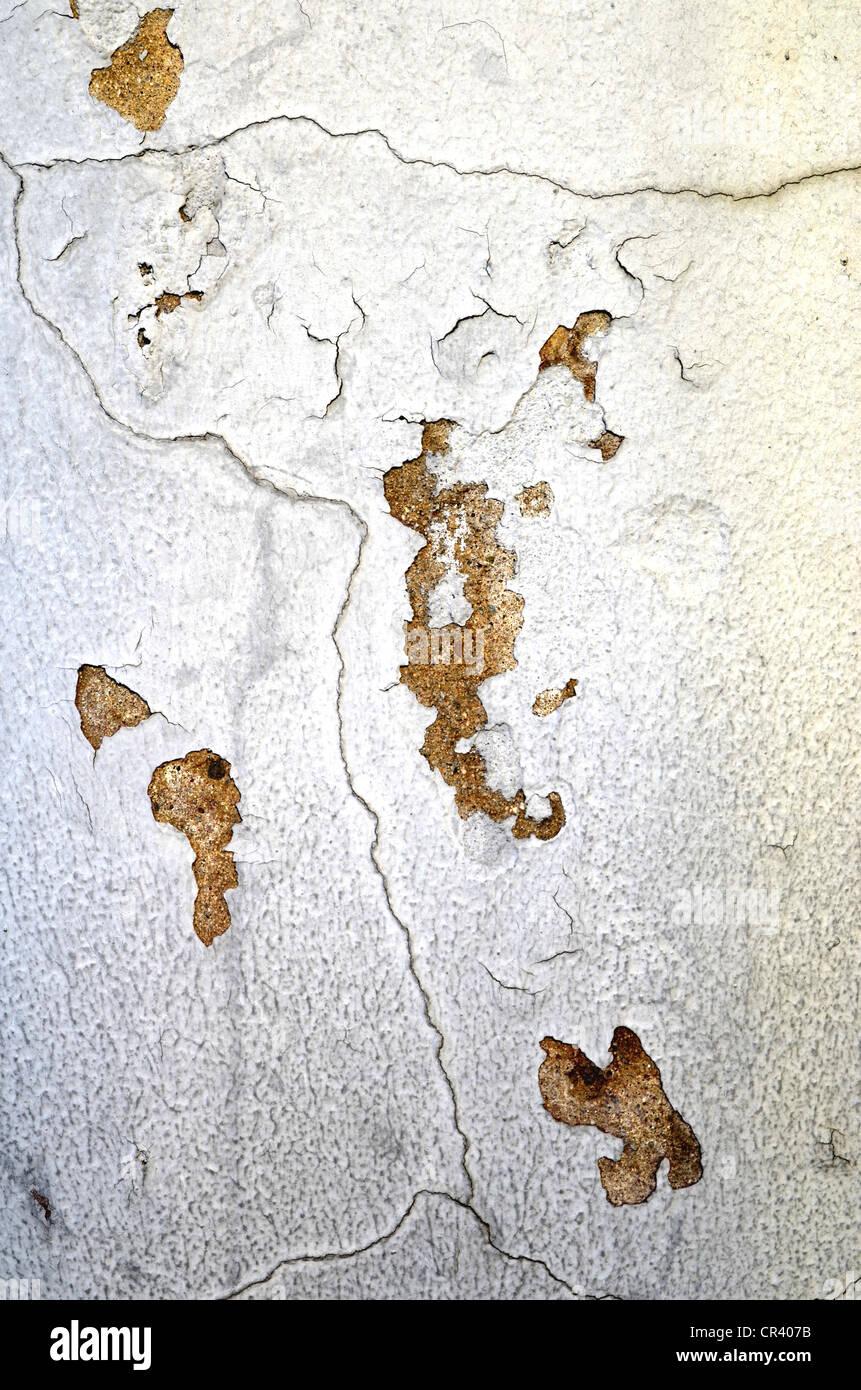 Mur Fissuré Avec La Peinture S écaille Sur Banque D Images