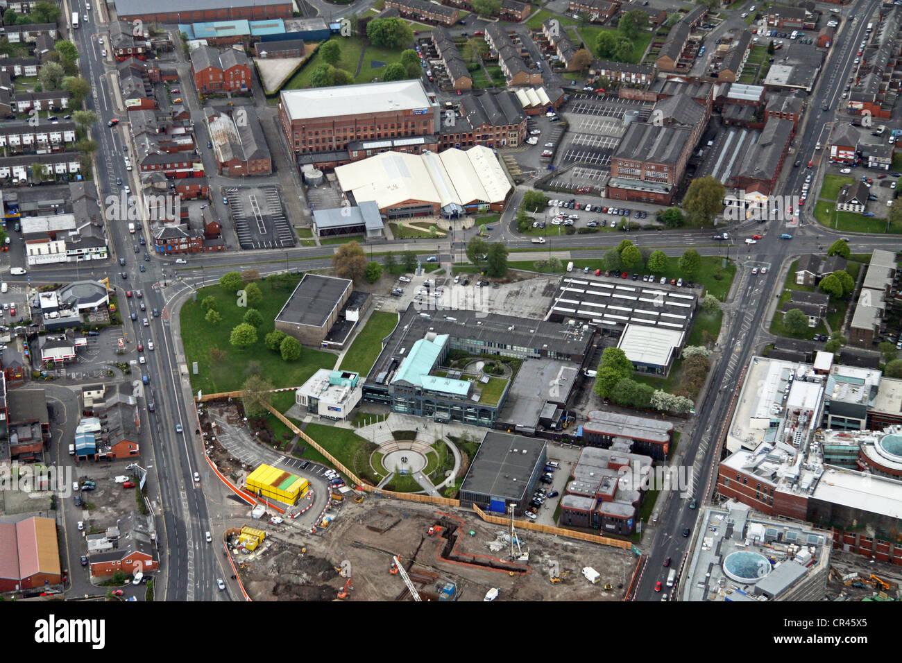 Vue aérienne de l'Université de Bolton Photo Stock