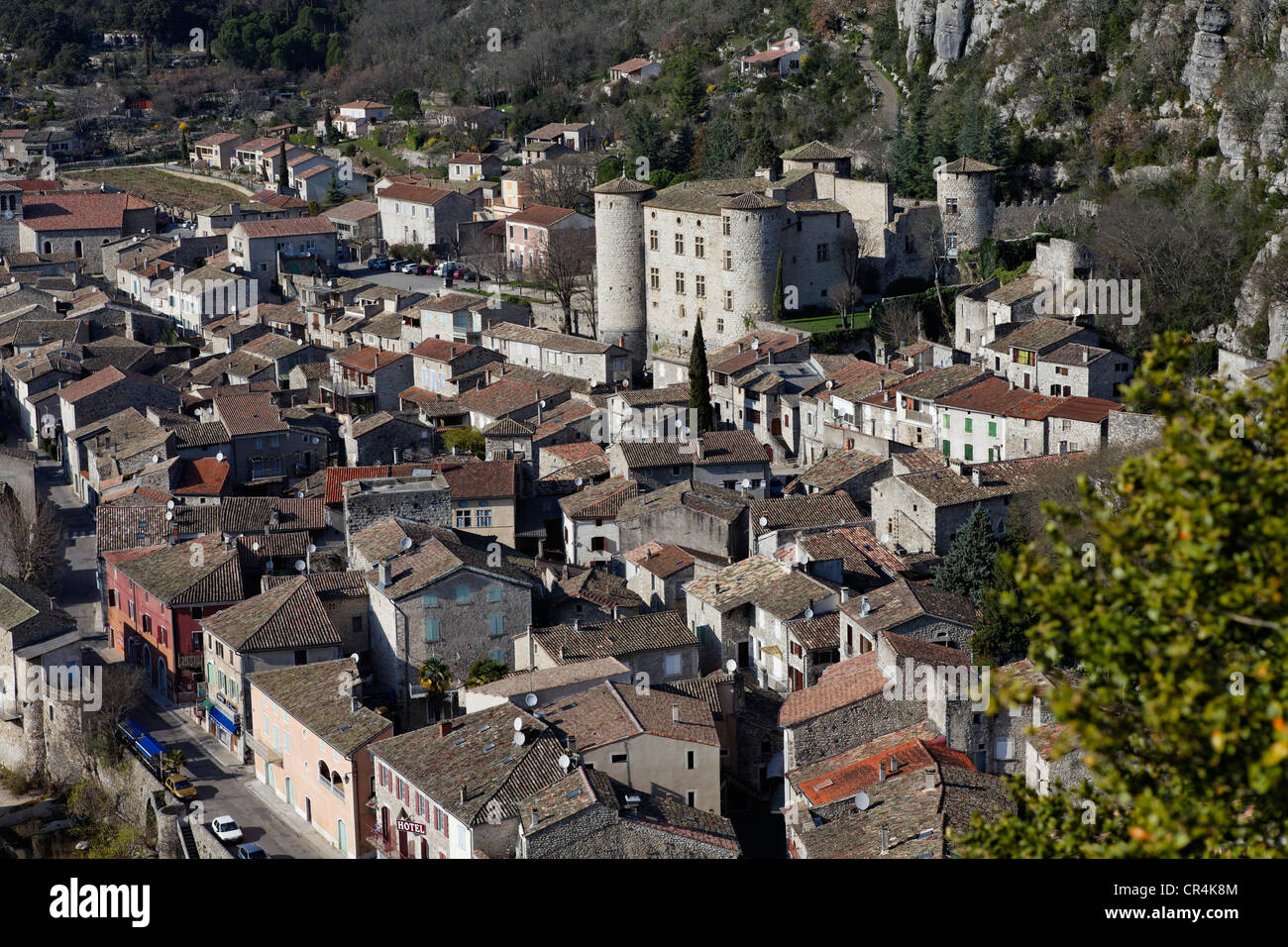 Village de Vogue, intitulée Les Plus Beaux Villages de France, Les Plus Beaux Villages de France, la vallée Photo Stock
