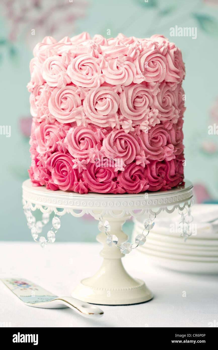 Ombre rose gâteau Photo Stock
