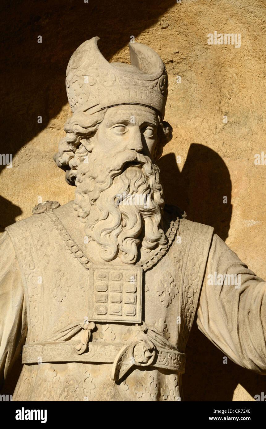 Statue d'Aaron, le sacrificateur ou le Lévite, frère de Moïse, Monument Sec Aix-en-Provence Provence Photo Stock