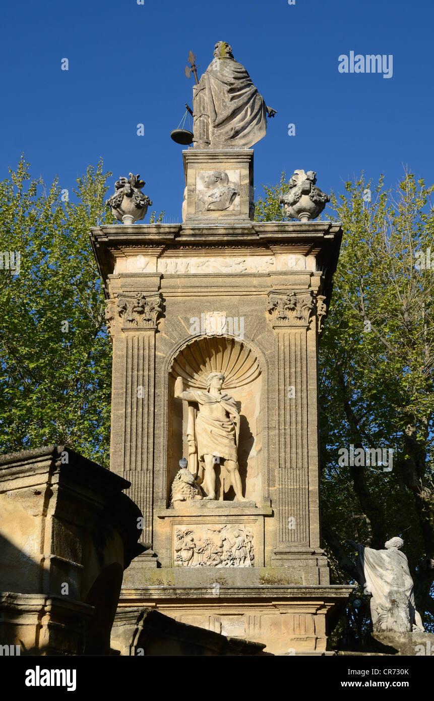 Monument Sec et statue d'Abraham Aix-en-Provence Provence France Photo Stock