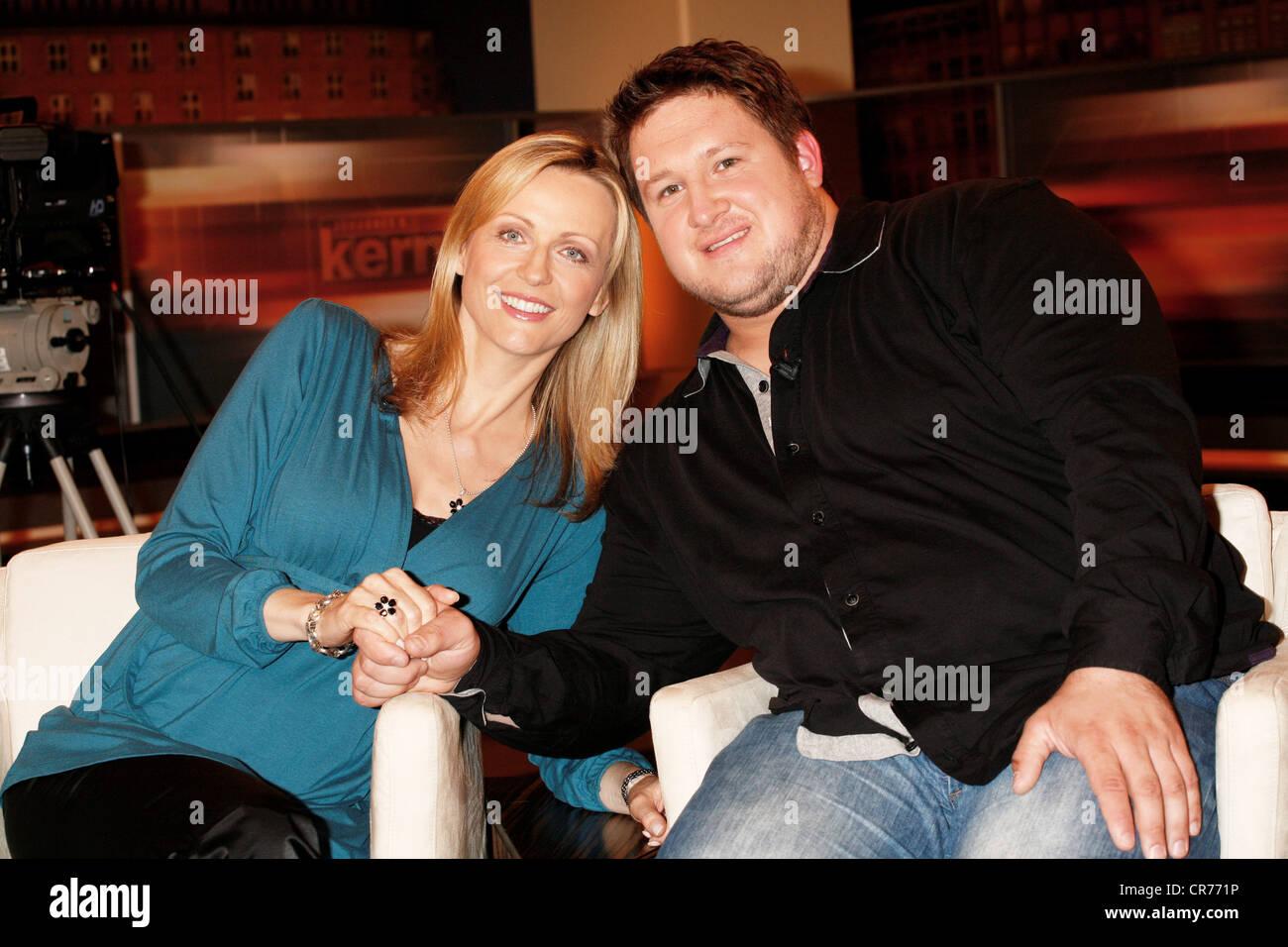Steiner, Matthias, * 25.8.1982, athlète autrichienne (haltérophilie), demi-longueur, avec sa femme Inge Photo Stock