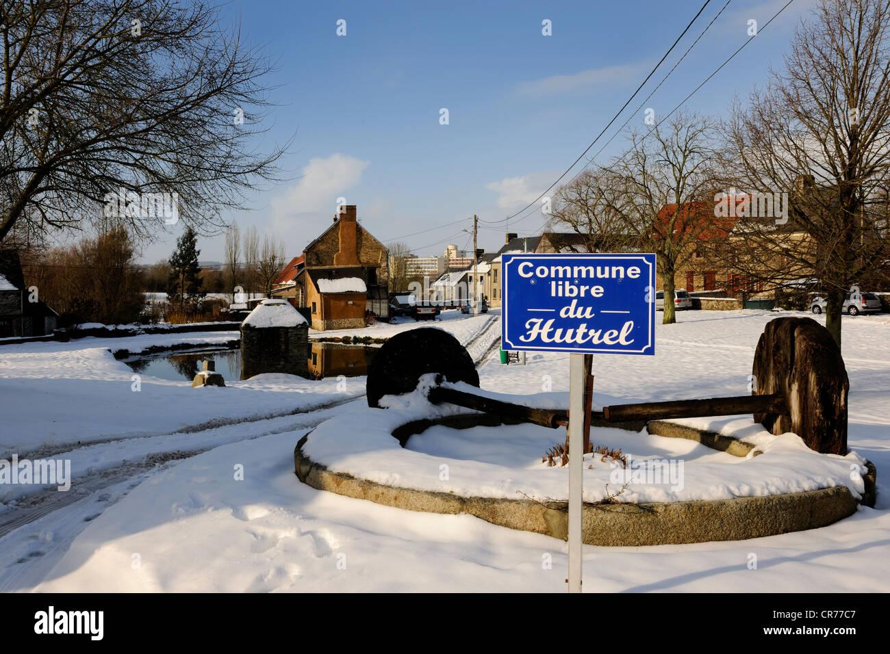 France, Manche, Cotentin, Saint Lo, de la commune libre du Hutrel Photo Stock