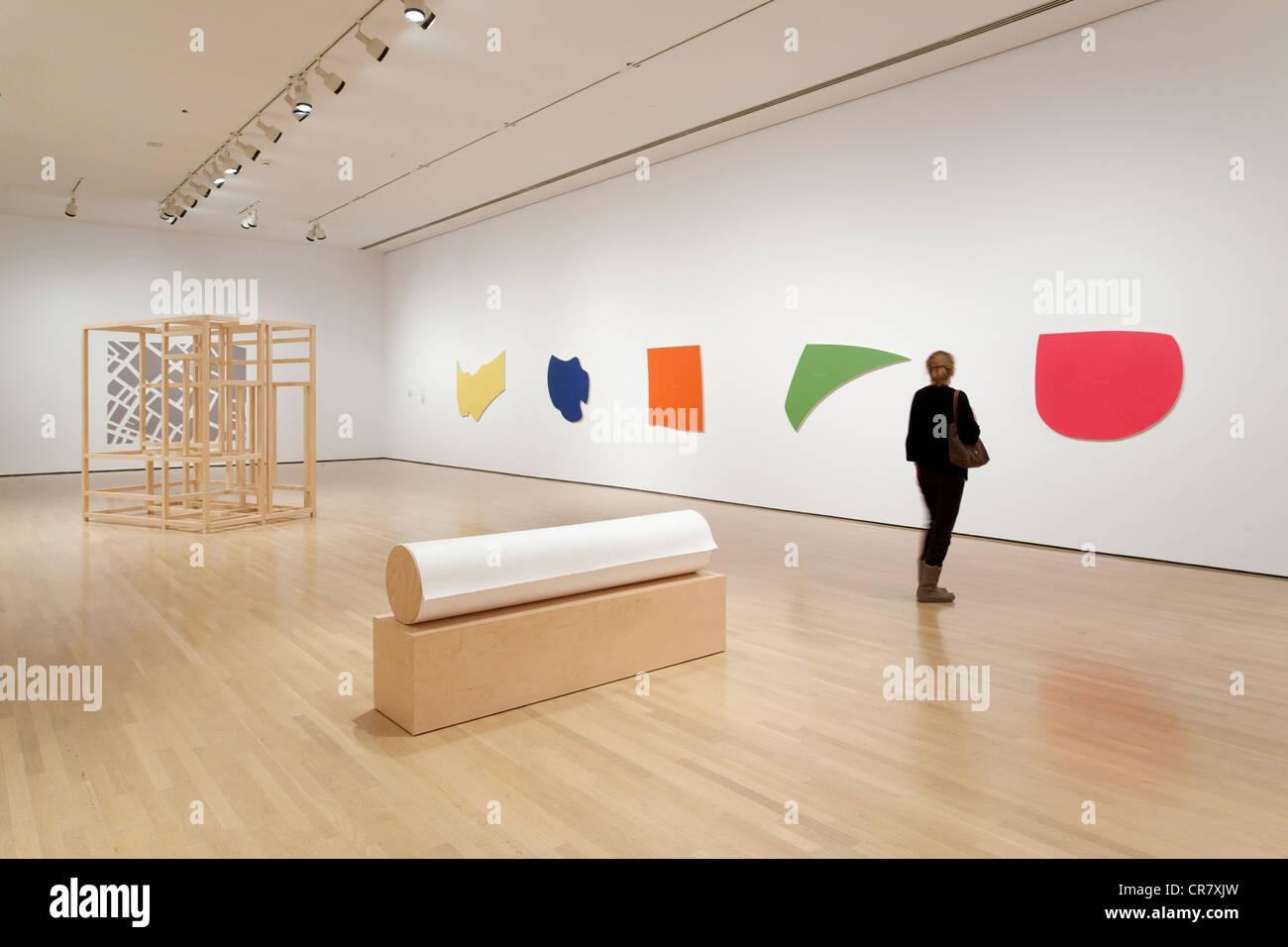 Canada, Québec, Montréal, Musée d'art contemporain, MAC, exposition de Francine Savard Photo Stock