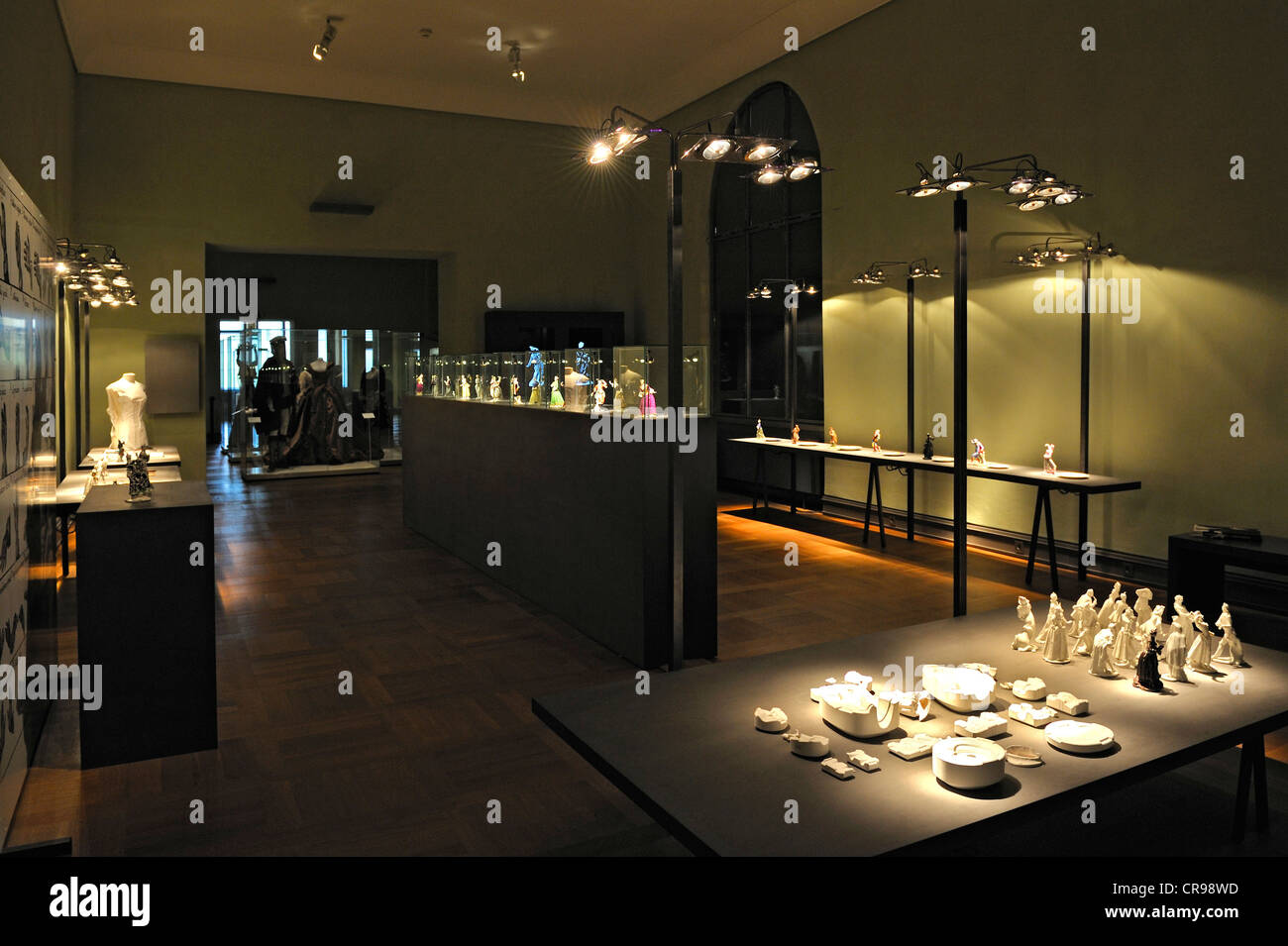 La Couture édition de la Manufacture de Porcelaine de Nymphenburg, Musée national de Bavière, Munich, Photo Stock
