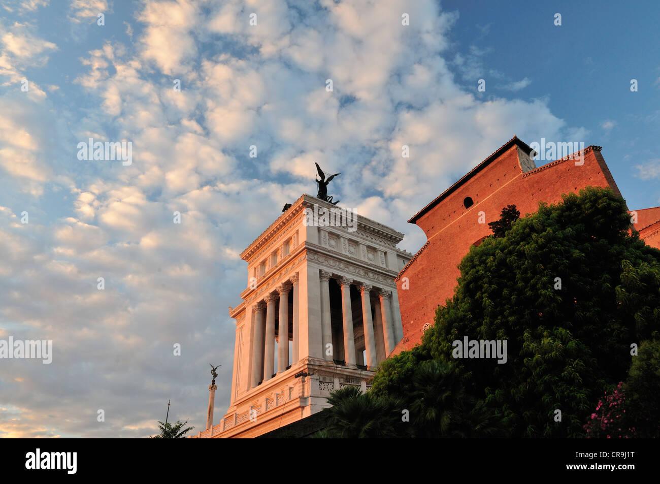 Le Vittoriano, pays autel, Unknow Soldier Monument, Place de Venise, Rome, Latium, Italie, Europe Photo Stock