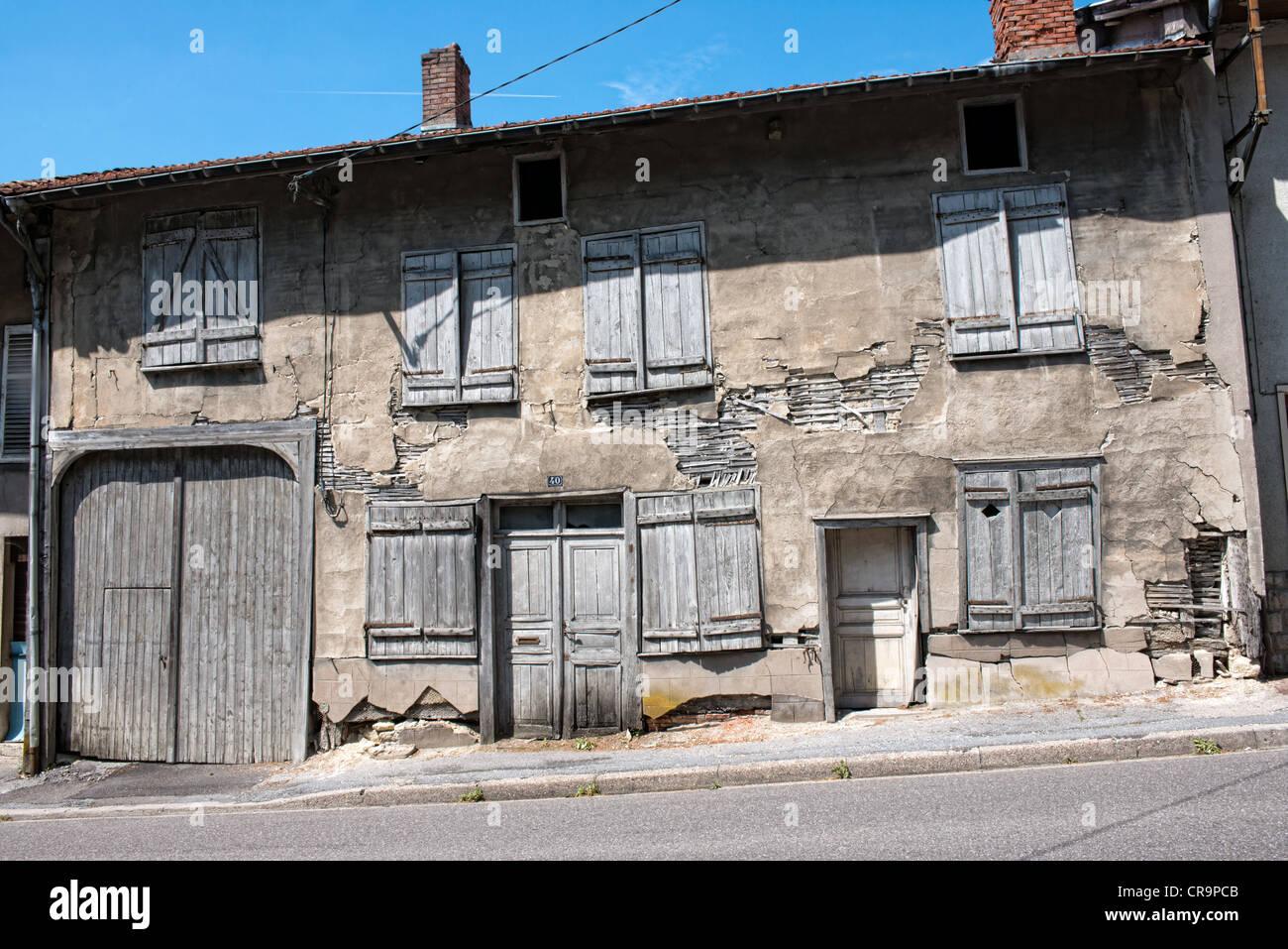 Maison française délabrée Photo Stock