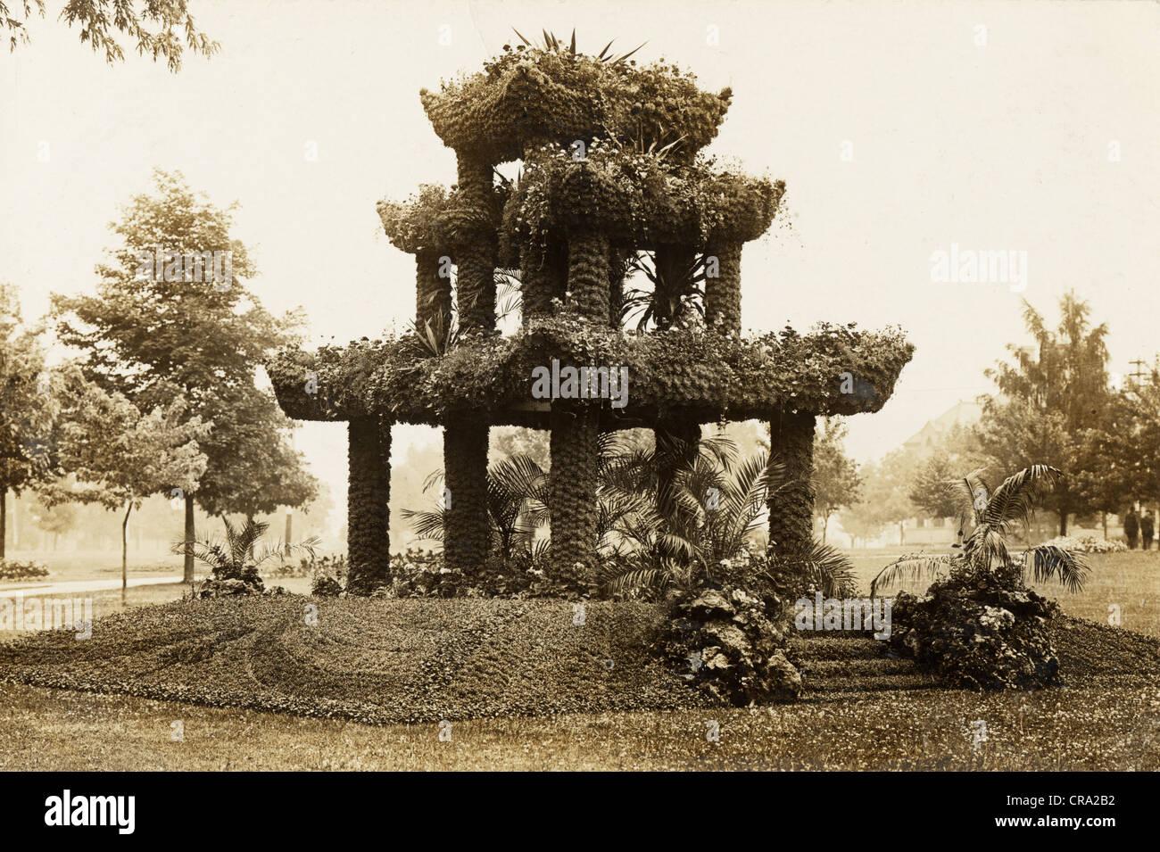 Niveau trois fantastique Pavillon Floral Photo Stock