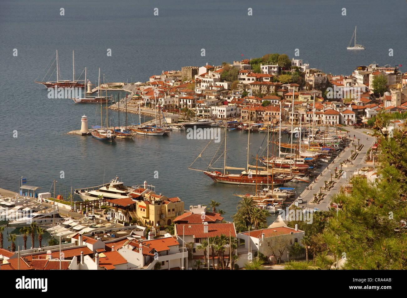 Vieille ville et du port de Marmaris, Muğla, Turquie Banque D'Images