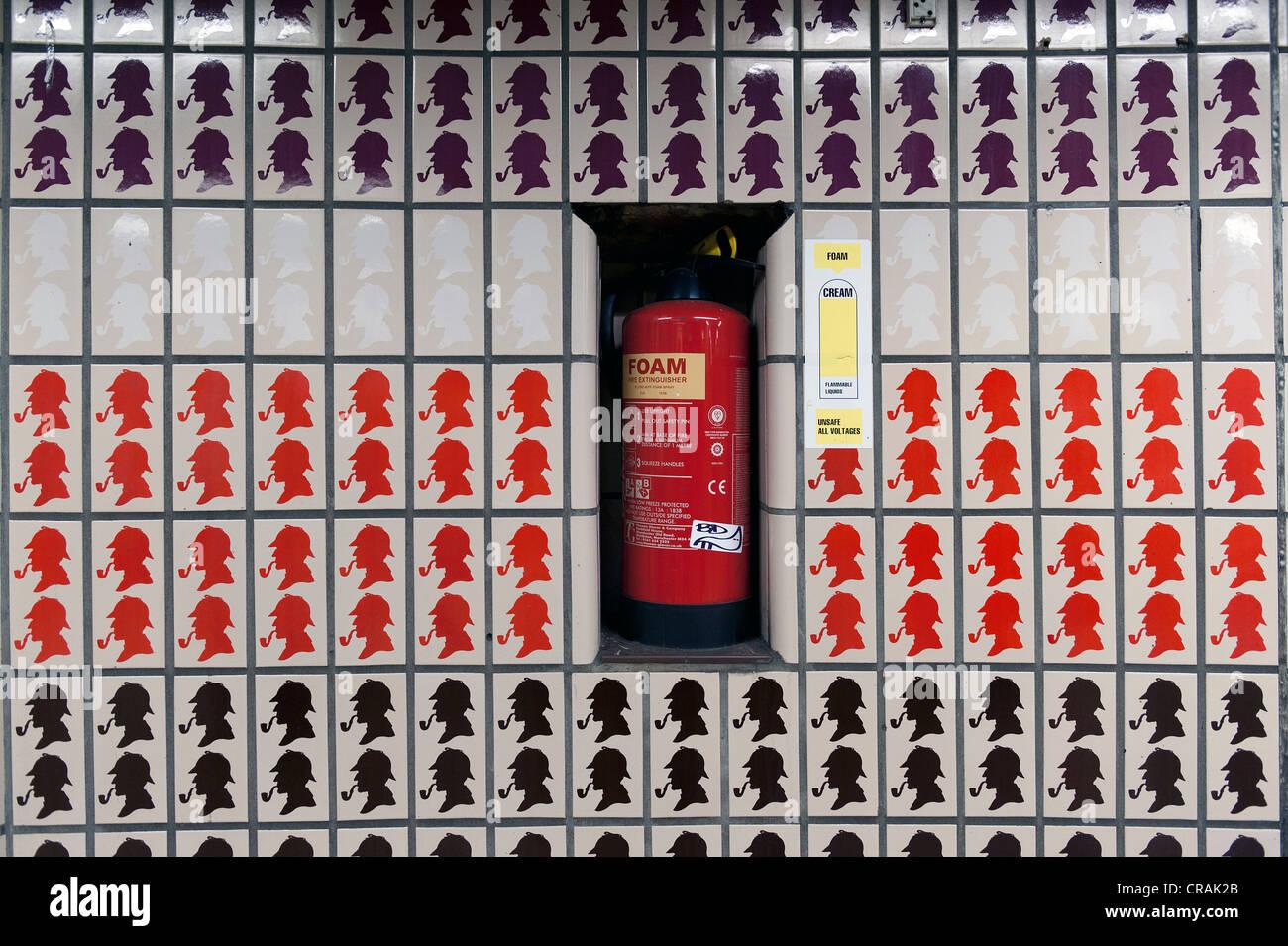 Carrelage Baker Street Blanc carreaux noirs photos & carreaux noirs images - alamy