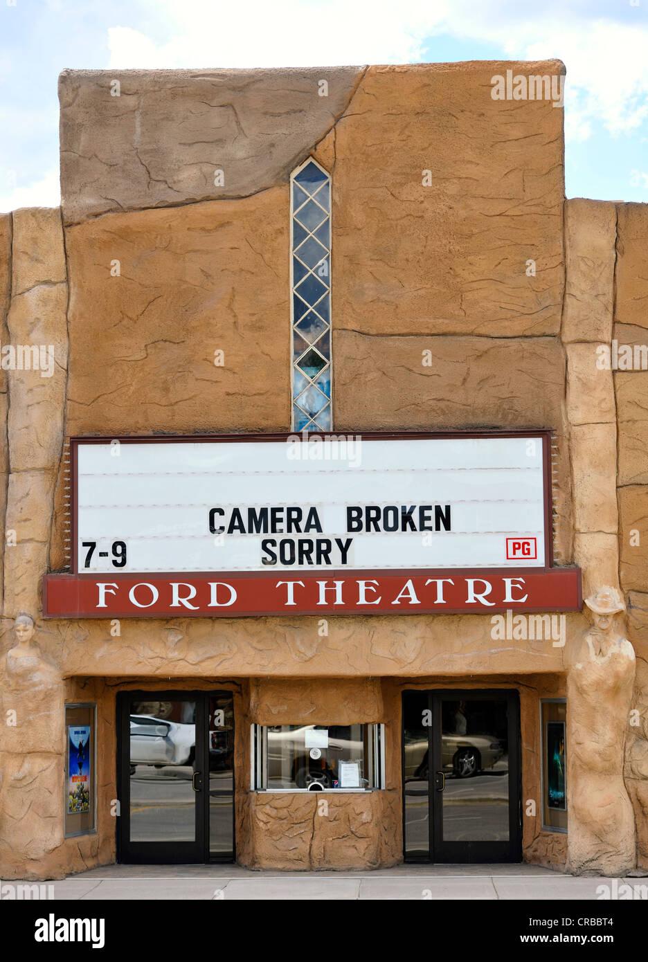 Cinema fermé pour cause de bris d'équipement, d'Afton, Wyoming, United States of America, PublicGround Photo Stock