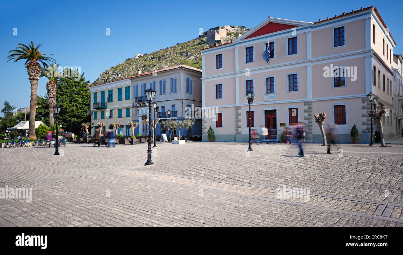 La place de Nauplie, Grèce Banque D'Images