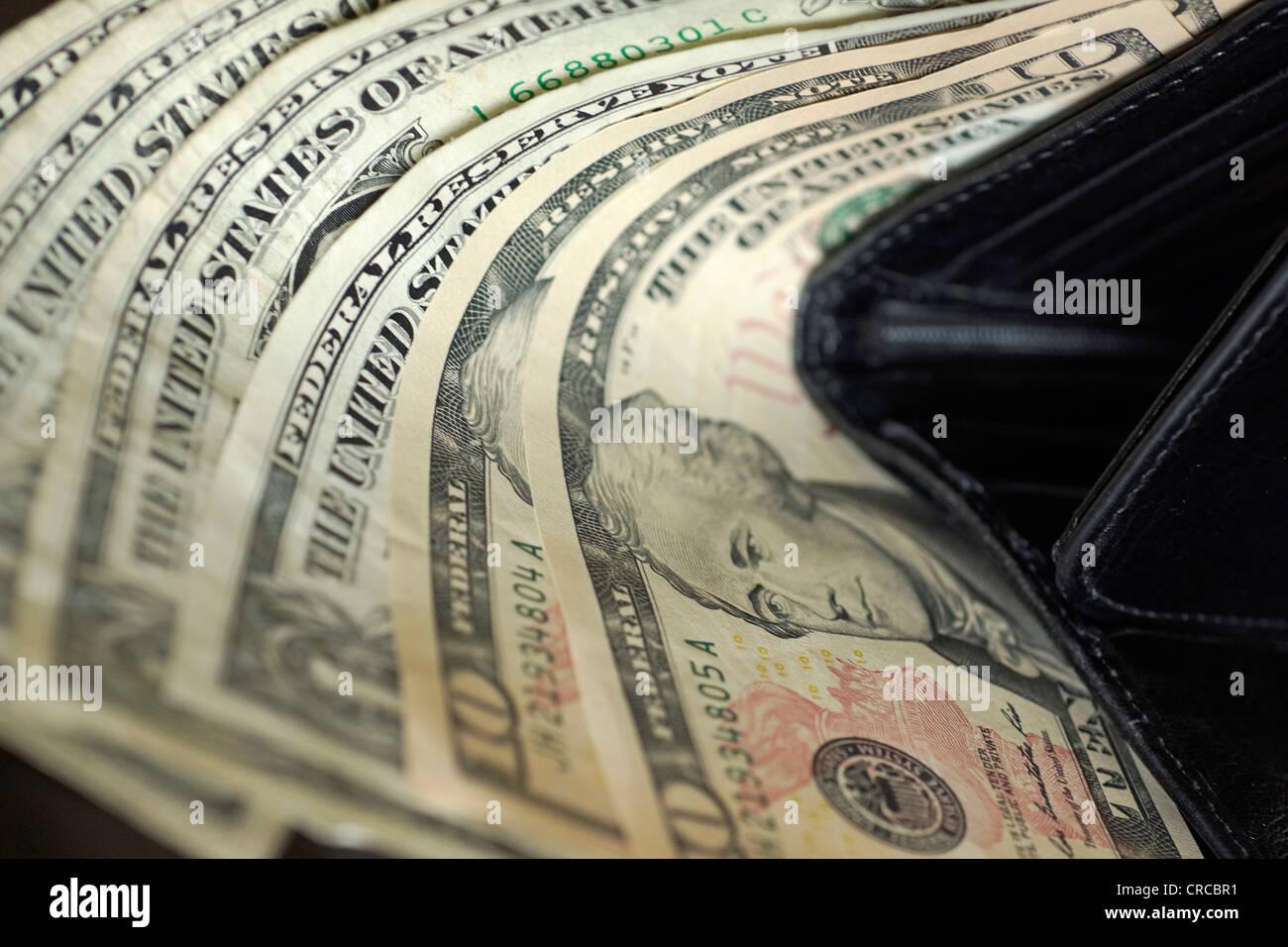 Dollar Bills, Notes, Monnaie US Dollars Photo Stock