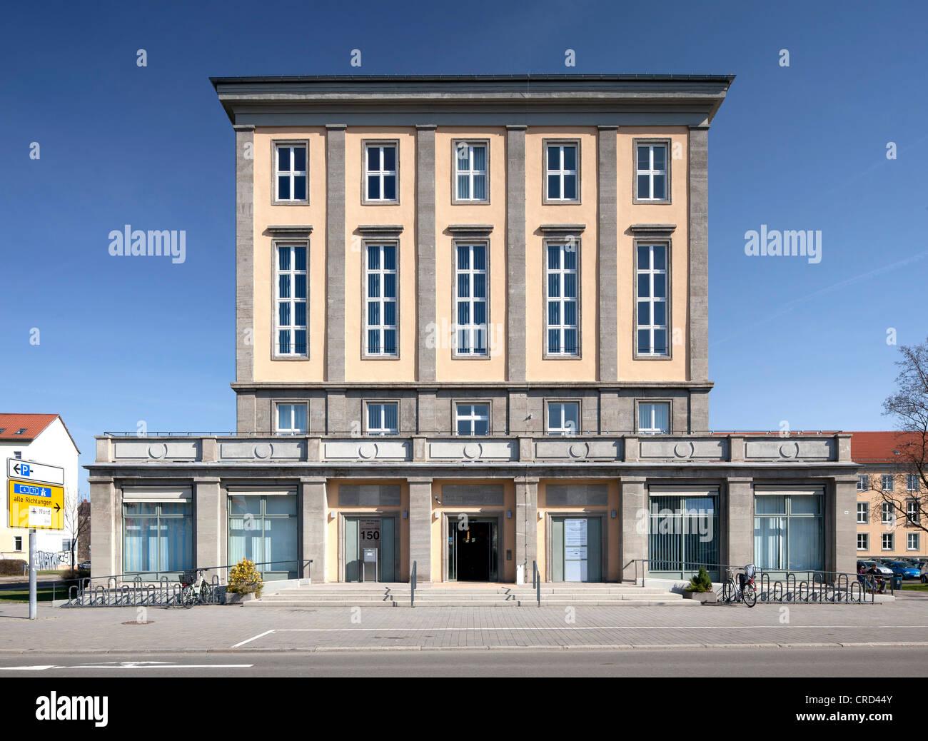 Union House, Chambre des Services sociaux, Erfurt, Thuringe, Allemagne, Europe, PublicGround Photo Stock