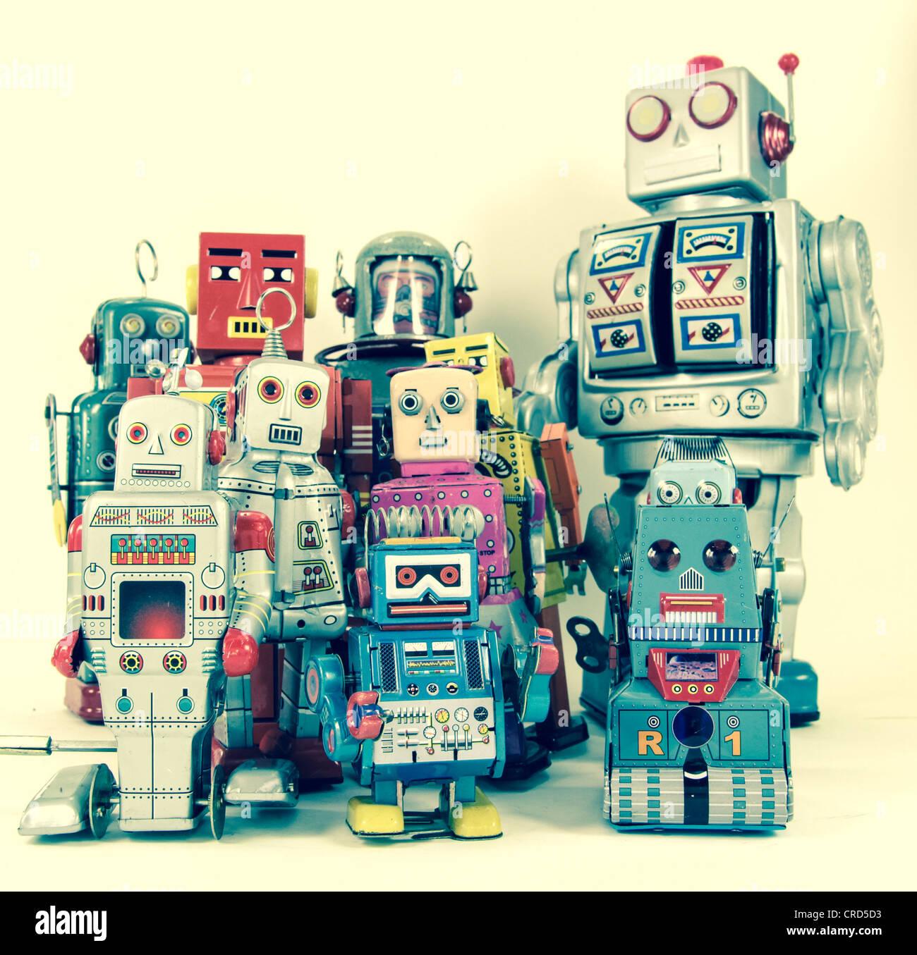 un robot jouet Photo Stock