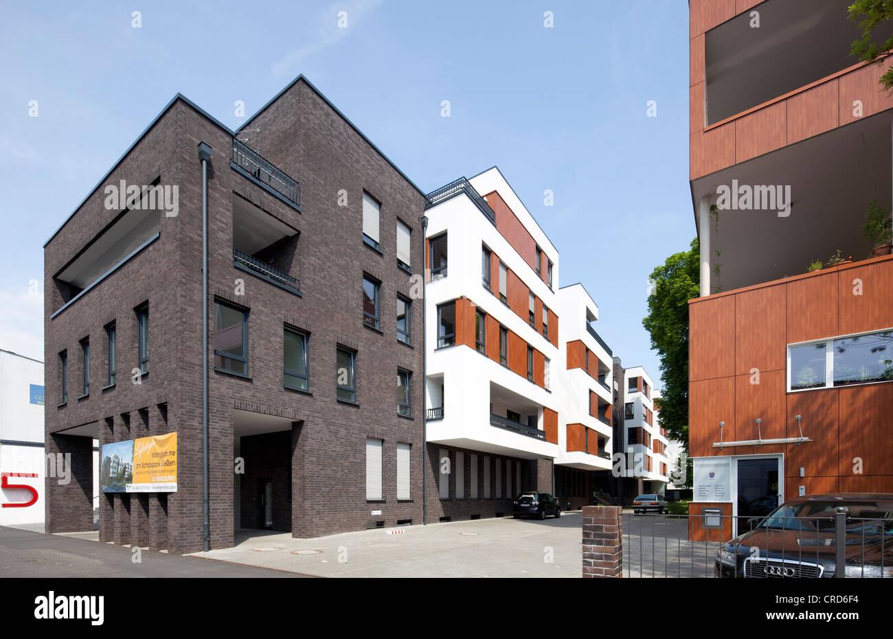 Bâtiment résidentiel, immeuble de bureaux, l'architecture contemporaine, Giessen, Hesse, Germany, Photo Stock