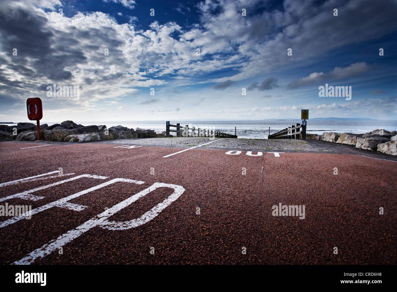 Les zones côtières pour milieux voiture morecombe uk Photo Stock